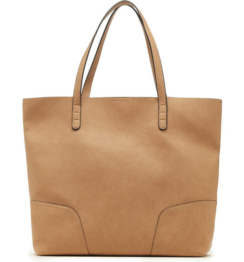 SOLE SOCIETY Lilyn Faux Leather Tote, Main, color, 200