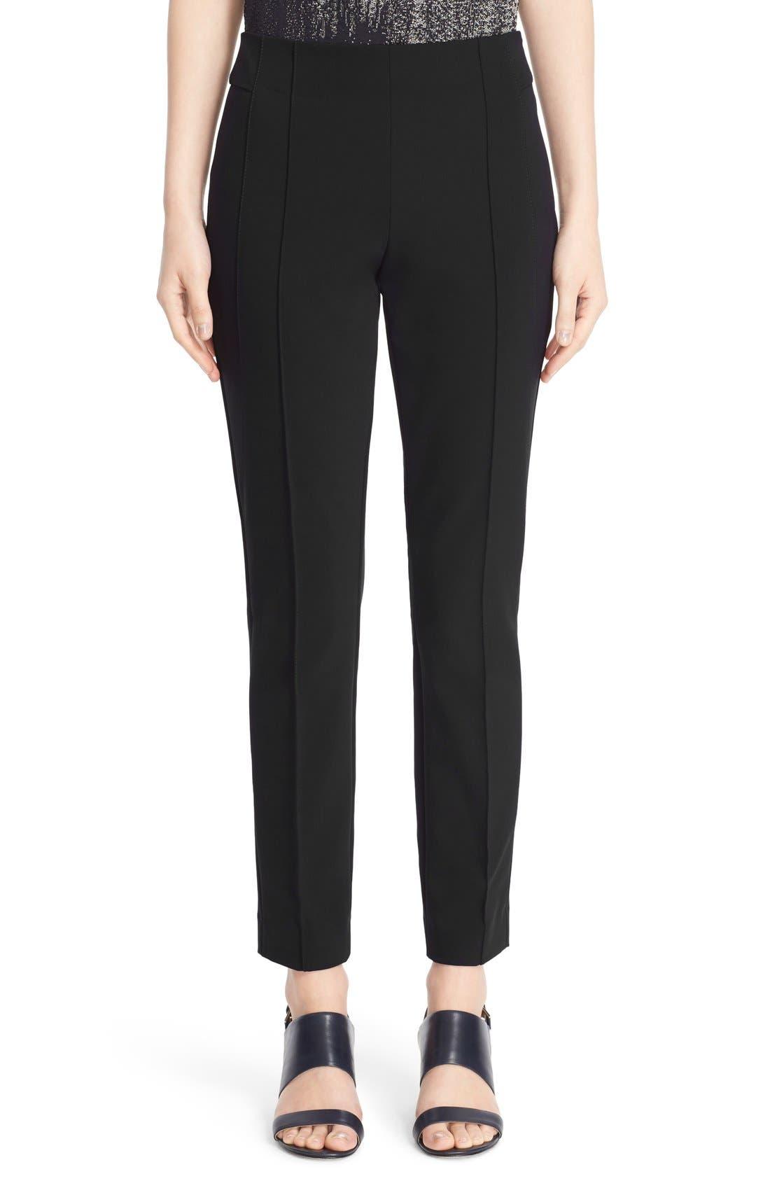 Women's Lafayette 148 New York 'Gramercy' Acclaimed Stretch Pants,  10 - Black