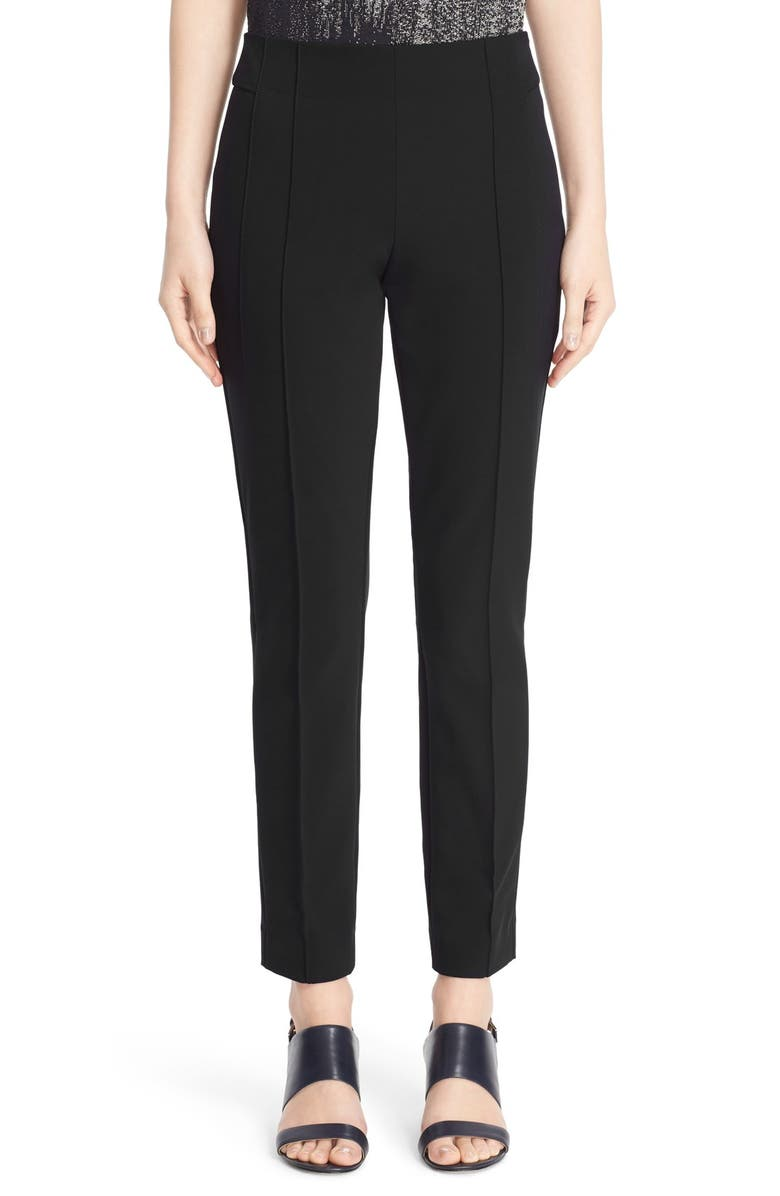 LAFAYETTE 148 NEW YORK 'Gramercy' Acclaimed Stretch Pants, Main, color, BLACK