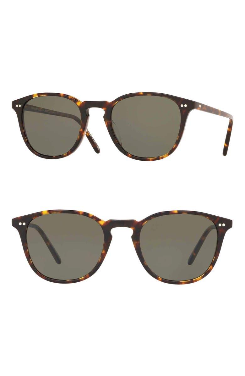 OLIVER PEOPLES Forman LA 51mm Sunglasses, Main, color, BROWN TORTOISE