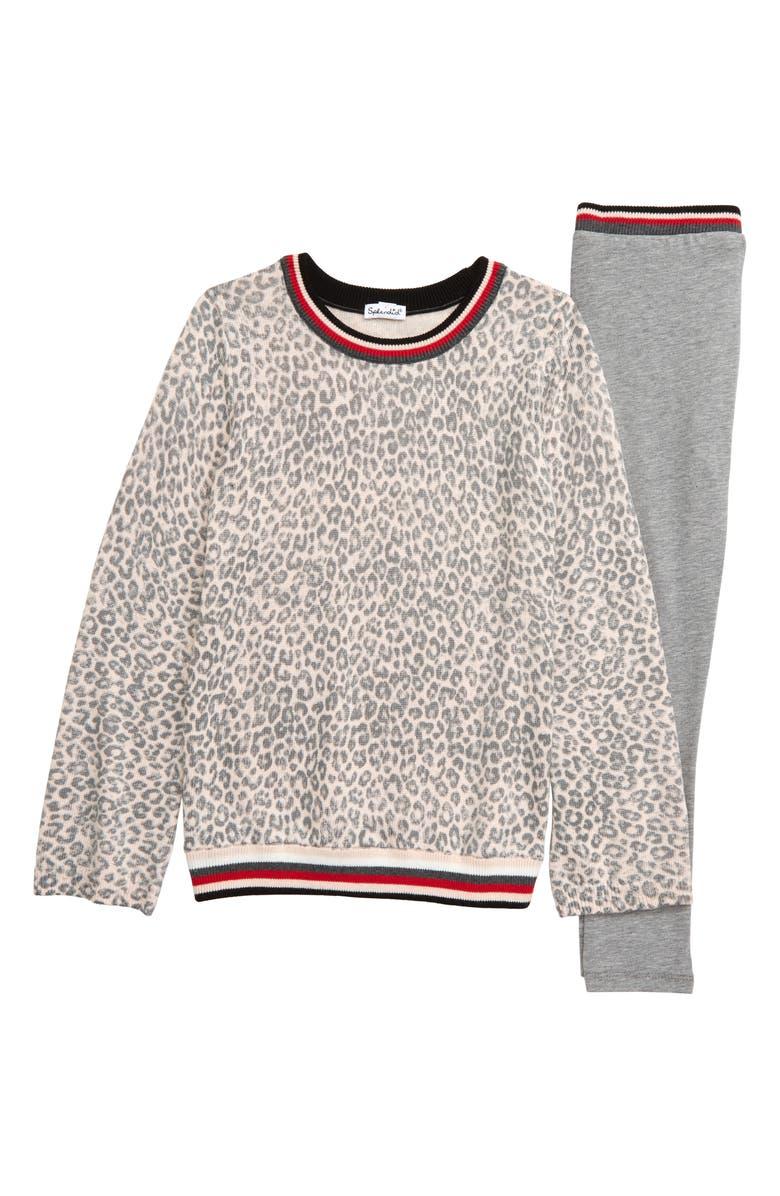 SPLENDID Leopard Sweater & Jogger Pants, Main, color, 690