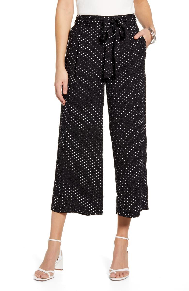 HALOGEN<SUP>®</SUP> Wide Leg Crop Pants, Main, color, 012