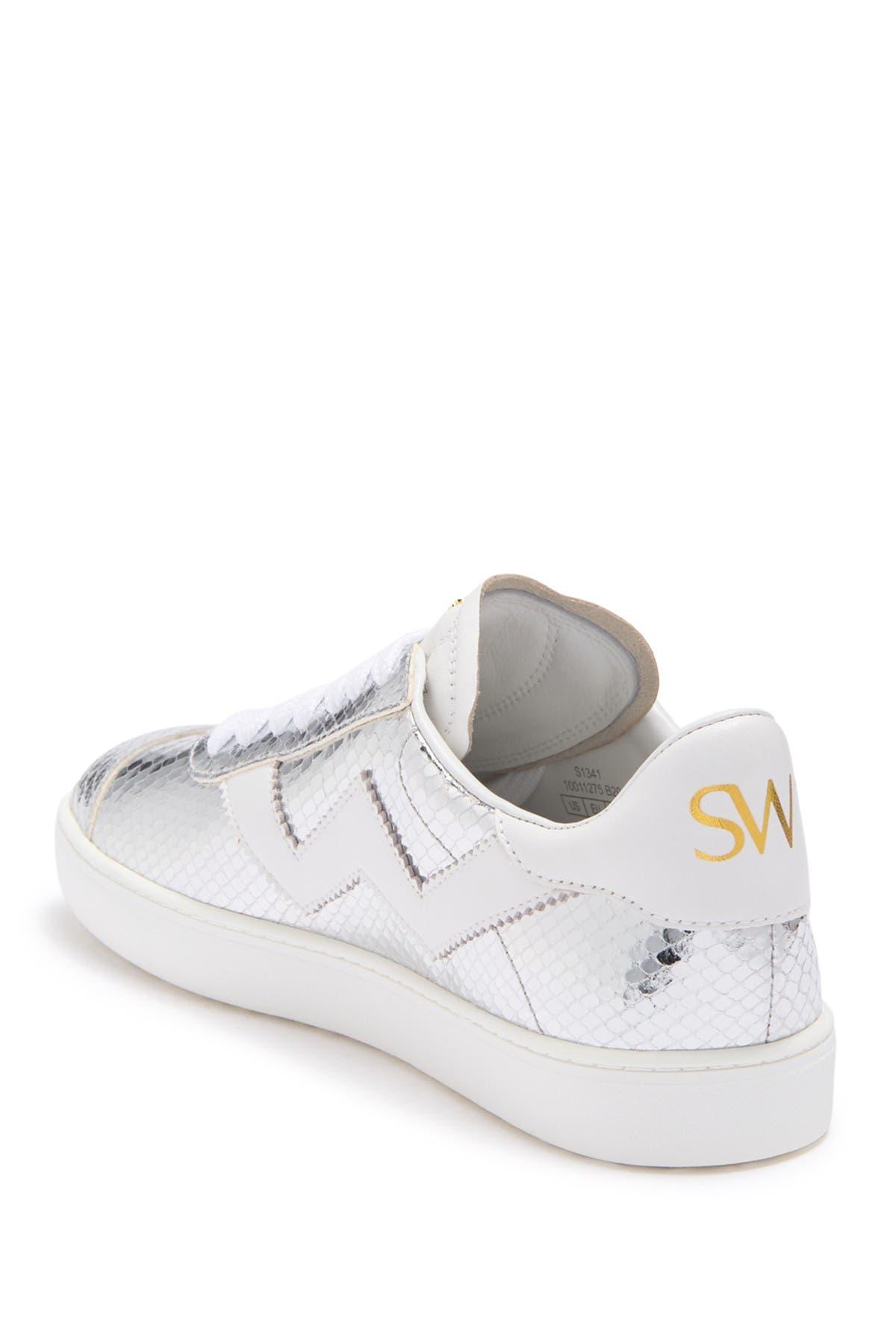 Image of Stuart Weitzman Daryl Snake Print Tech Sneaker