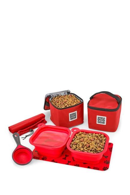 Image of MOBILE DOG GEAR Dine Away(R) Bag - Med/Lg Dogs - Red