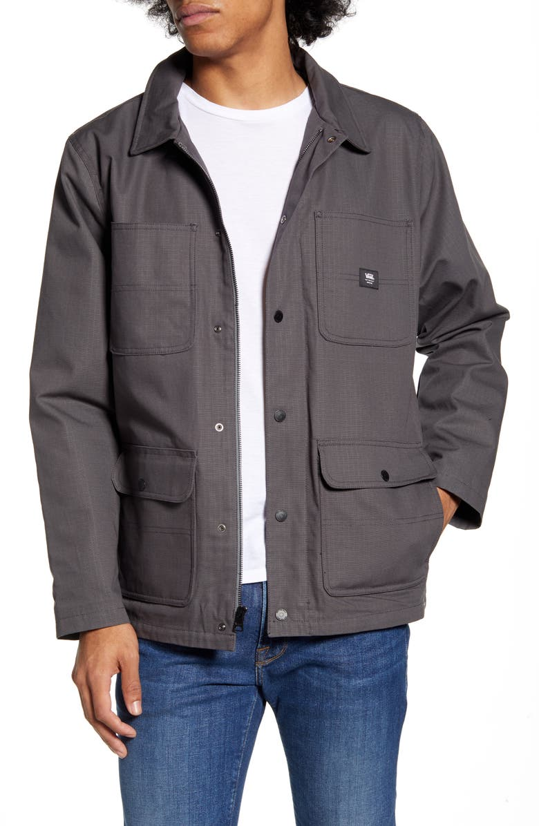 VANS Drill Ripstop Chore Coat, Main, color, ASPHALT RIPSTOP