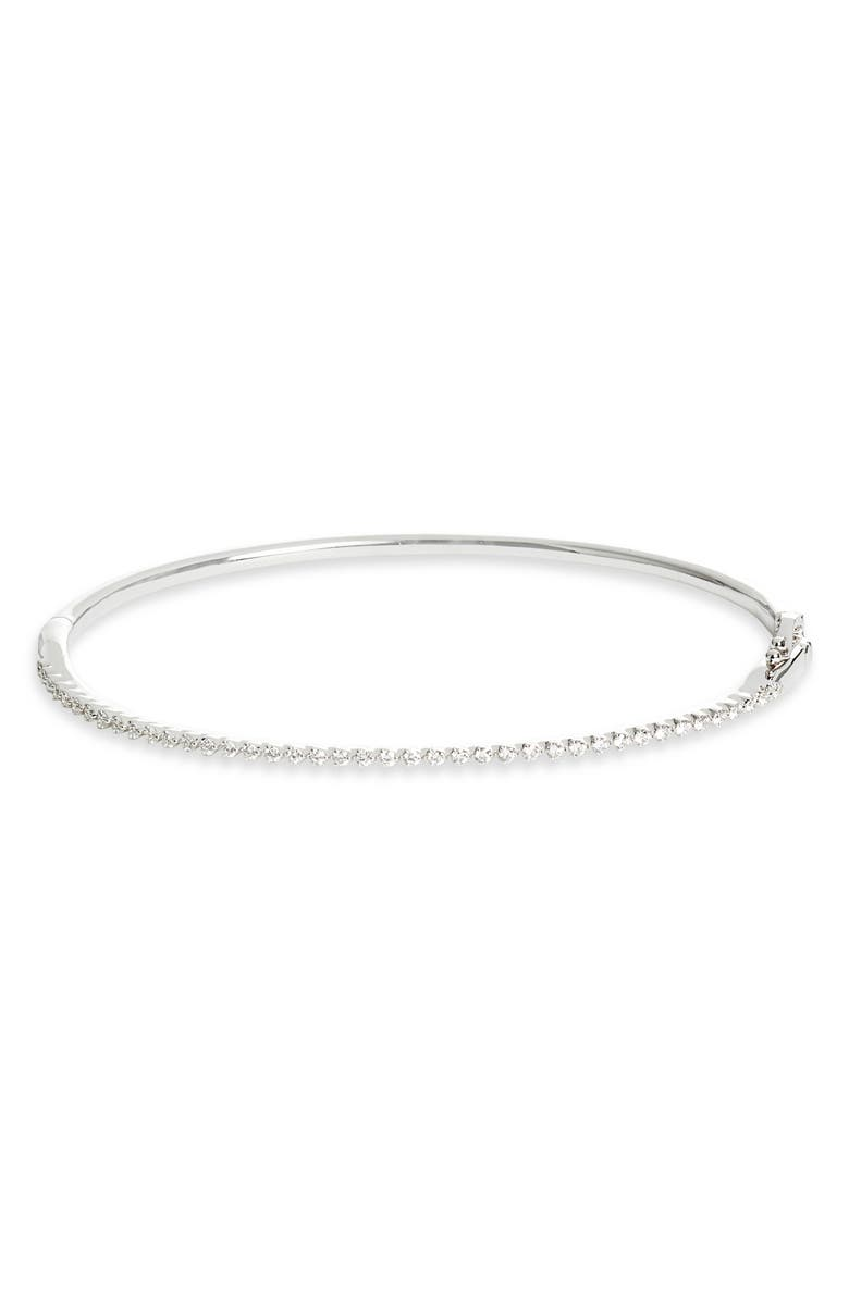 BONY LEVY Liora Diamond Bangle, Main, color, WHITE GOLD/ DIAMOND