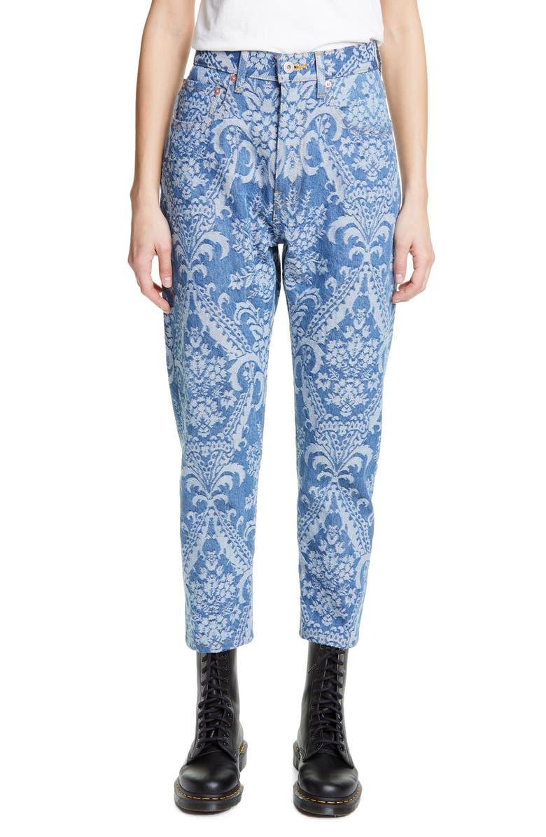 JUNYA WATANABE Jacquard Straight Leg Jeans, Main, color, 400