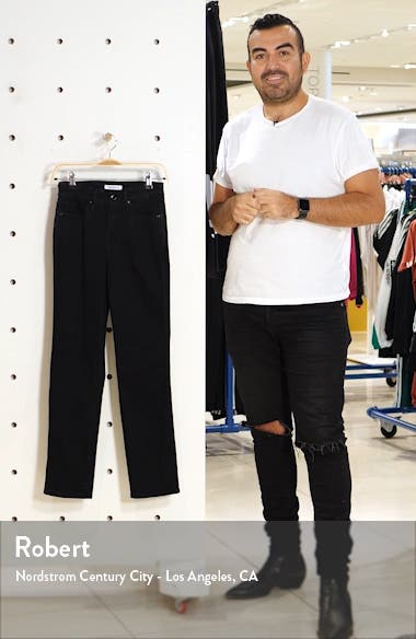 Good Straight Destroyed Hem Straight Leg Jeans, sales video thumbnail