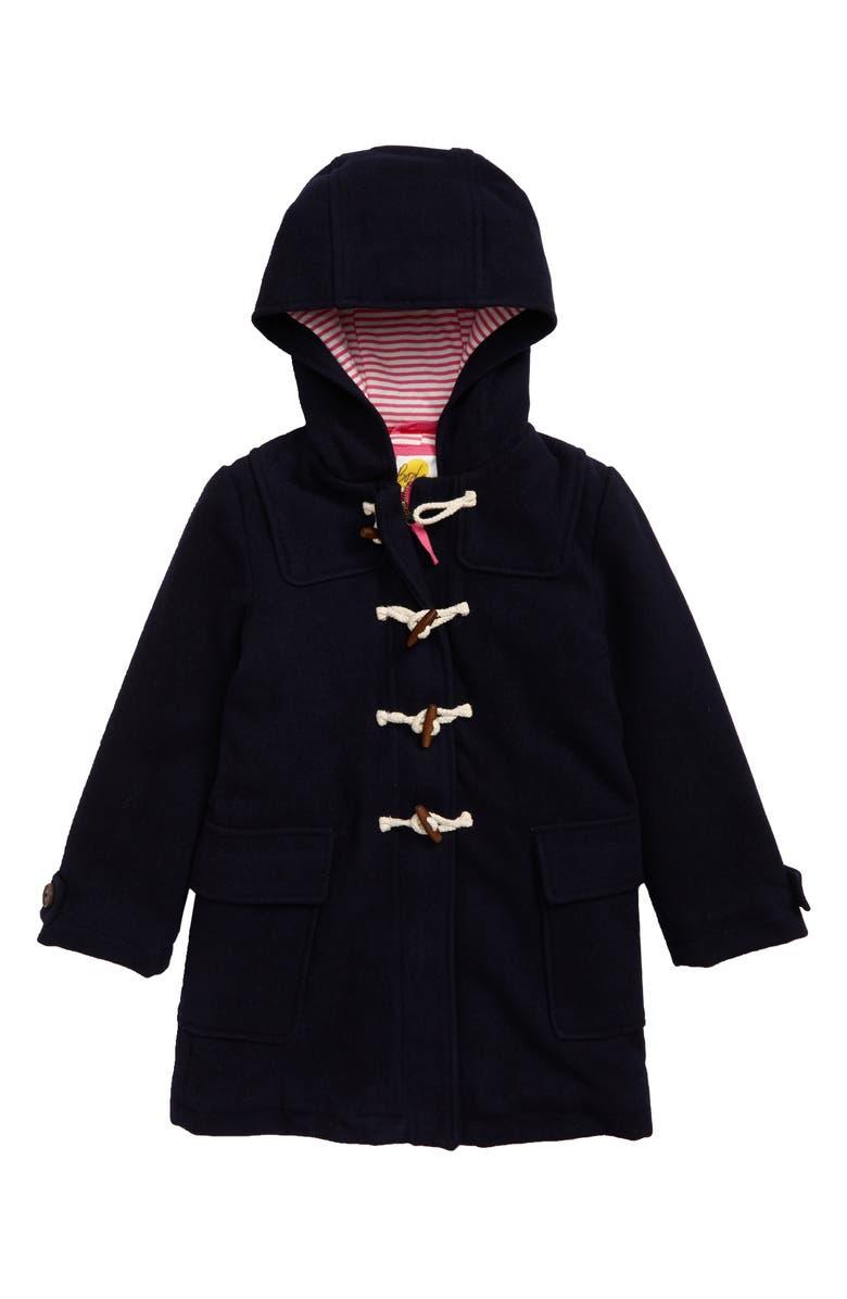 MINI BODEN Hooded Duffle Coat, Main, color, NAV NAVY