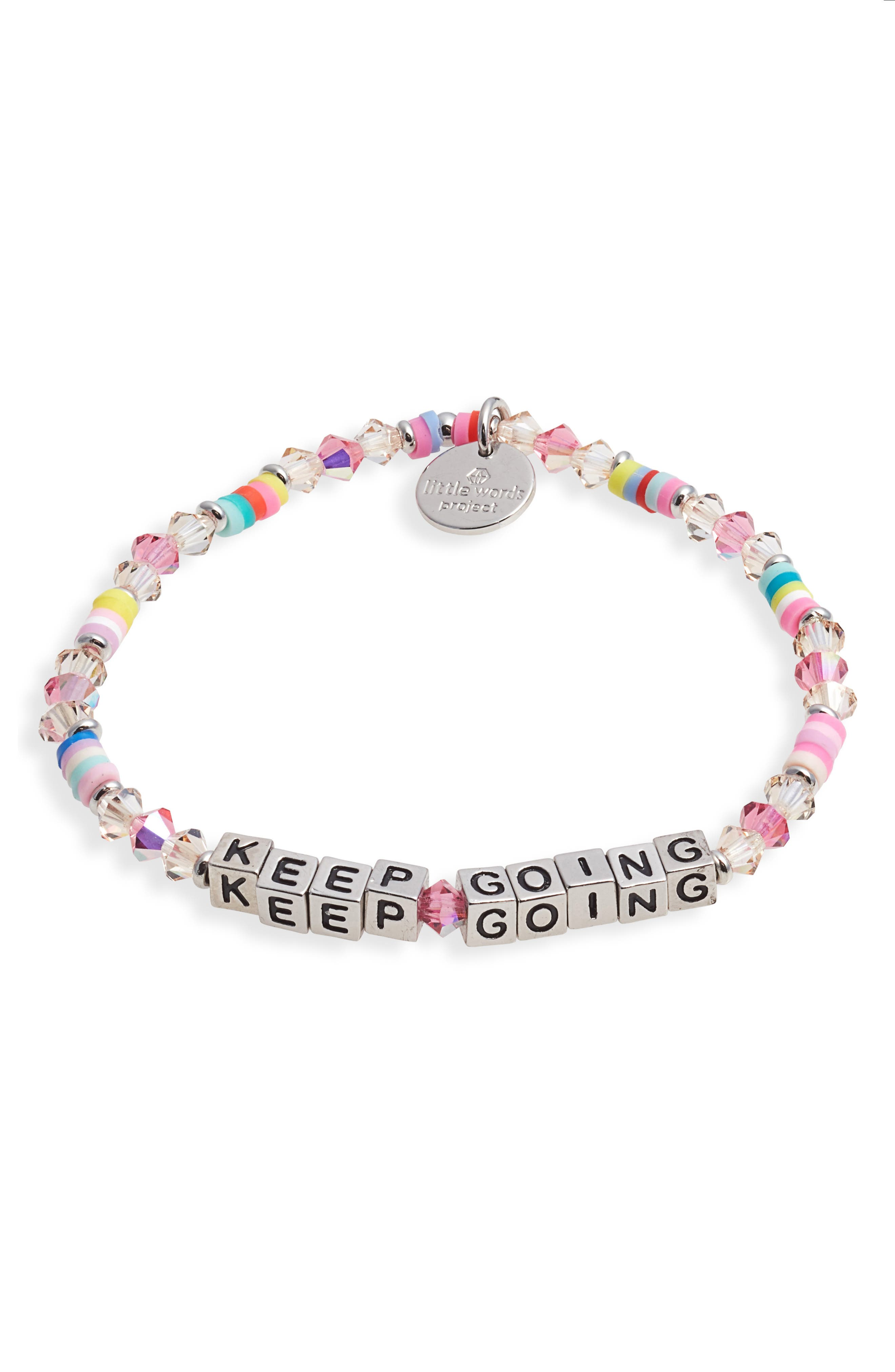 Keep Going Beaded Stretch Bracelet