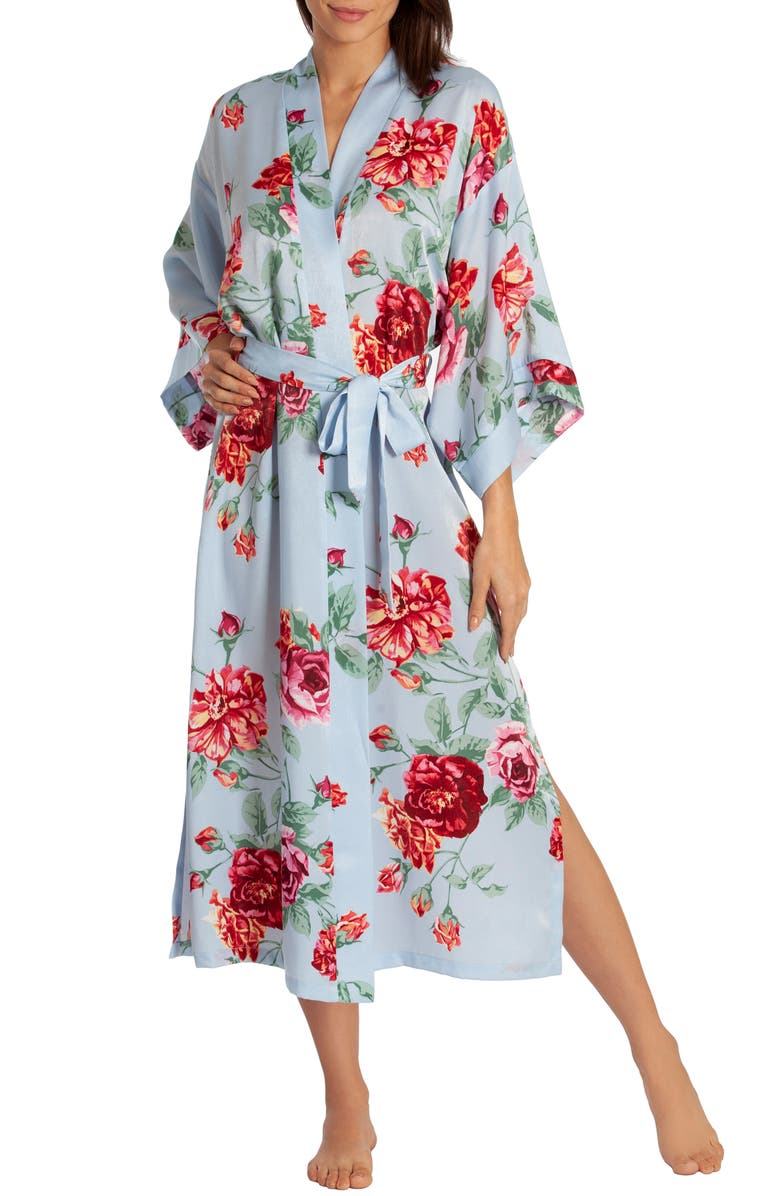 IN BLOOM BY JONQUIL Someone Like You Robe, Main, color, BLUE HAZE