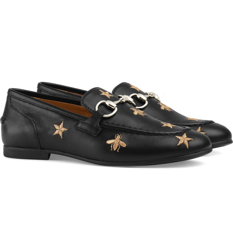 GUCCI Jordaan Bit Loafer, Main, color, BLACK
