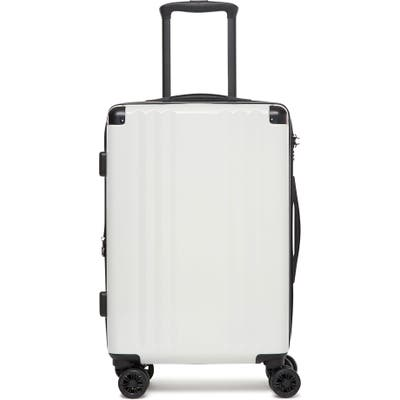 Calpak Ambeur 22-Inch Rolling Spinner Carry-On - White
