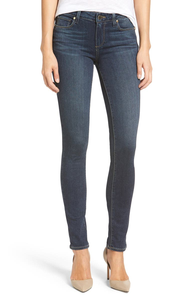 PAIGE Transcend Skyline Skinny Jeans, Main, color, 400