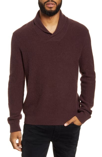 Vince Sweaters SHAWL COLLAR CASHMERE SWEATER