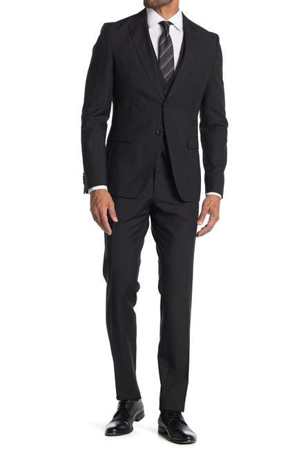 Image of BOSS Black Two Button Notch Lapel Wool Suit Set