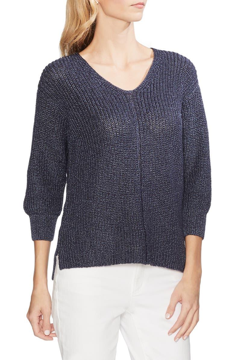 VINCE CAMUTO V-Neck Marled Sweater, Main, color, 407