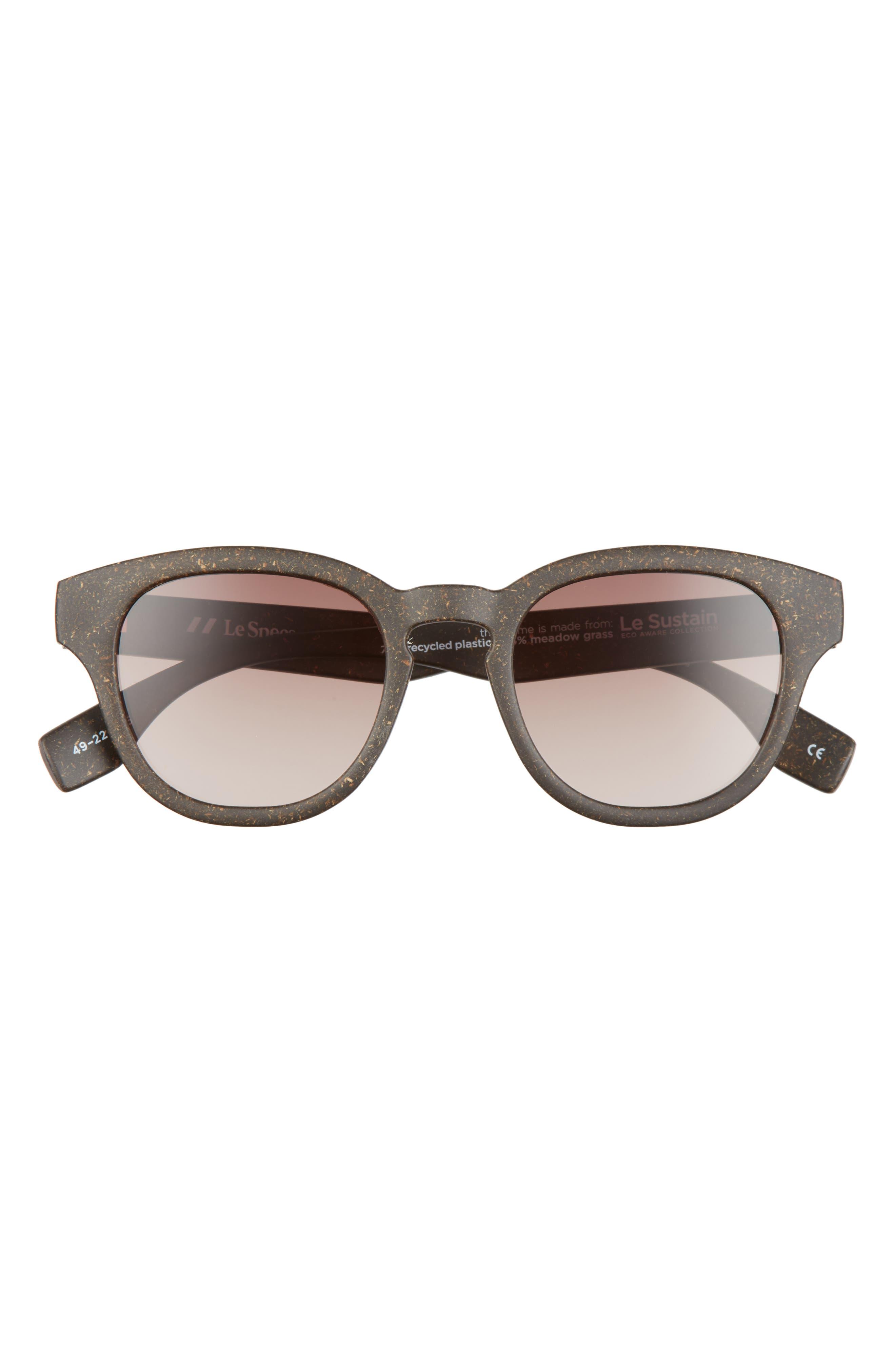 Grass Band 49mm Polarized Round Sunglasses