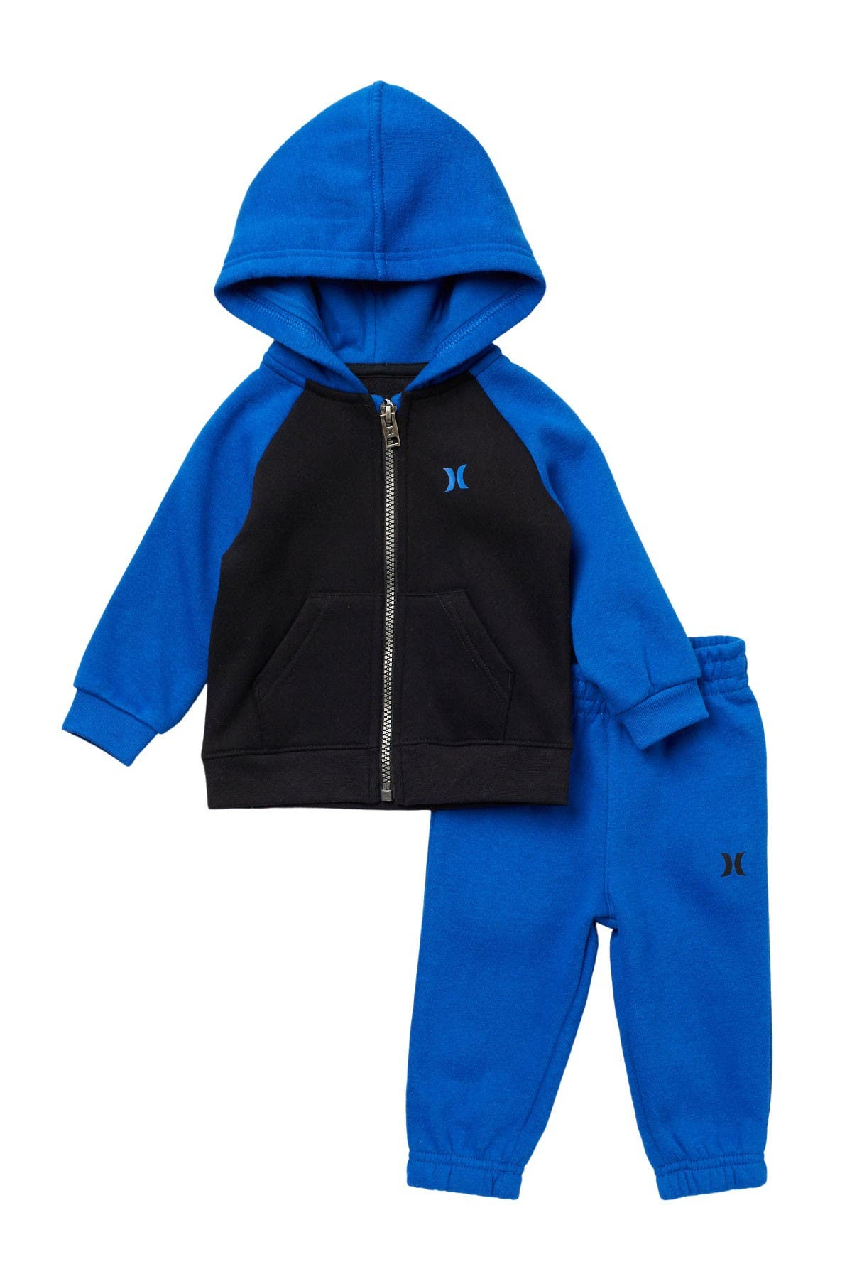 Image of Hurley Colorblock Hoodie & Sweatpant 2-Piece Set