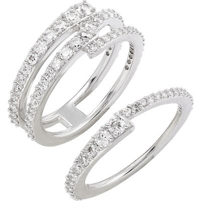 Nadri Ripple Set Of 2 Stacking Rings