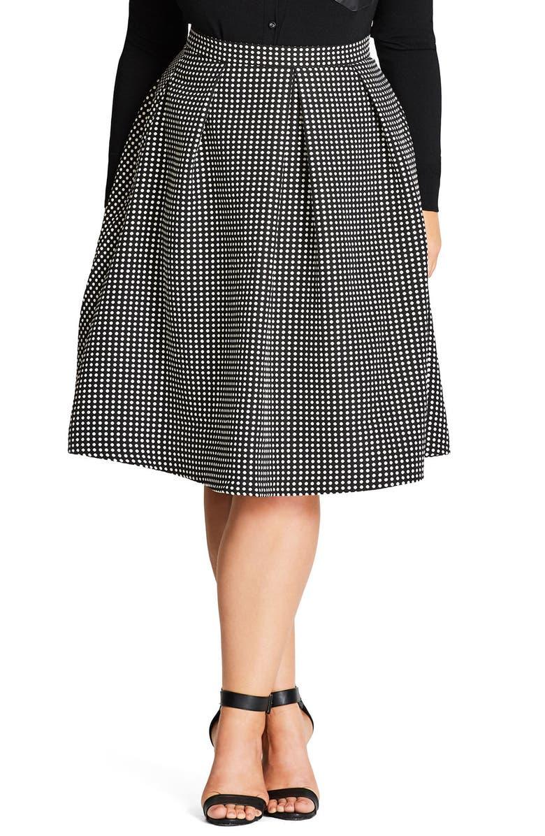 CITY CHIC '60s Mod Skirt, Main, color, 001