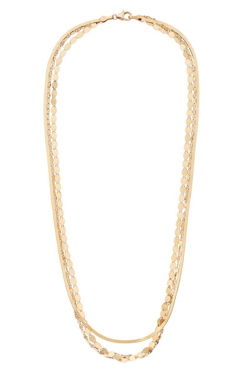 LANA JEWELRY Remi Liquid Gold Triple Strand Necklace, Main, color, 710