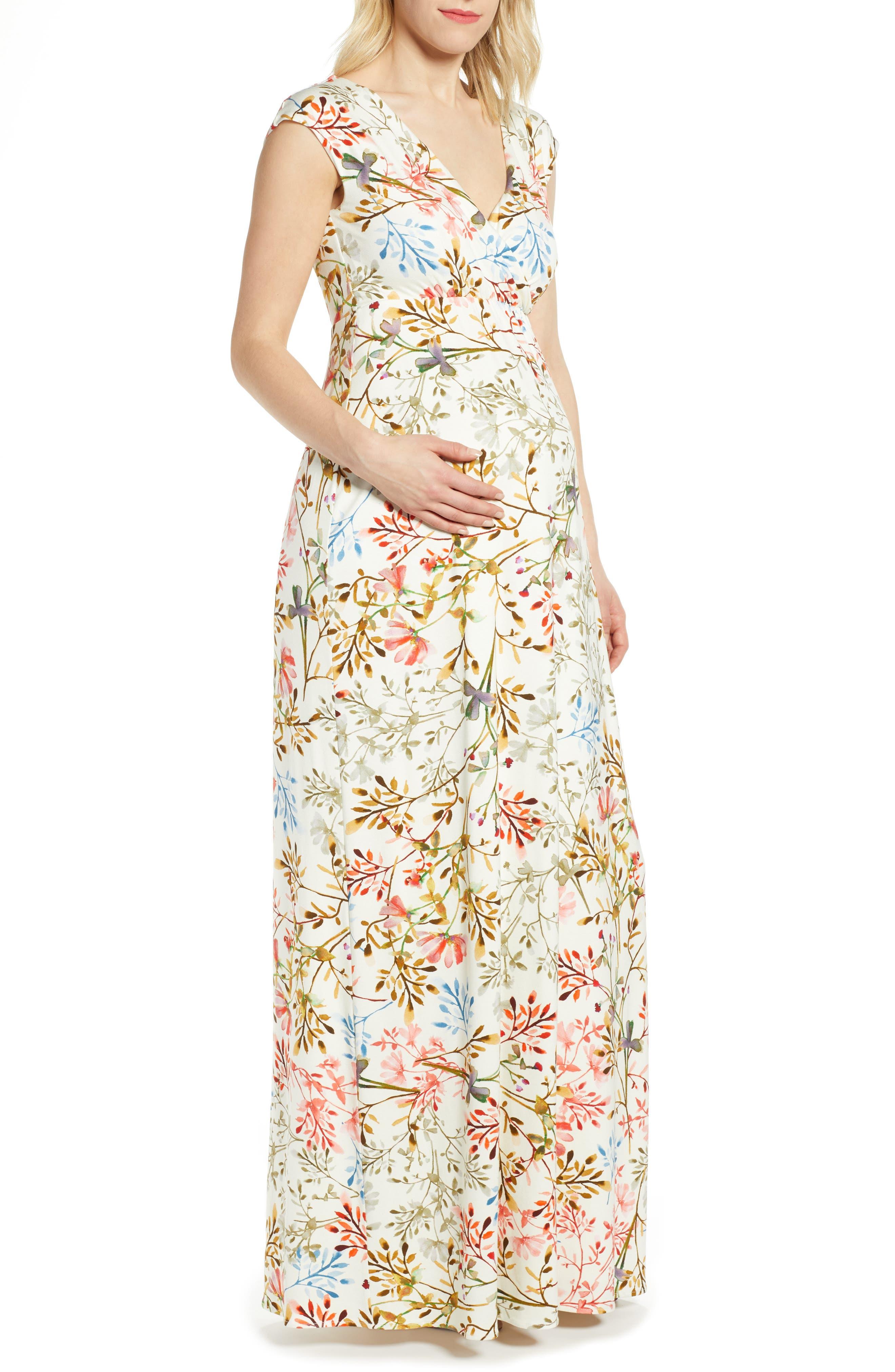 Tiffany Rose Alana Maternity/nursing Maxi Dress, White