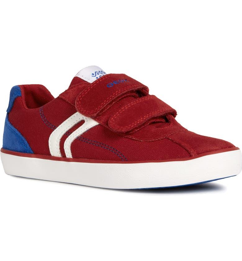 GEOX Kilwi Low Top Sneaker, Main, color, RED/ ROYAL