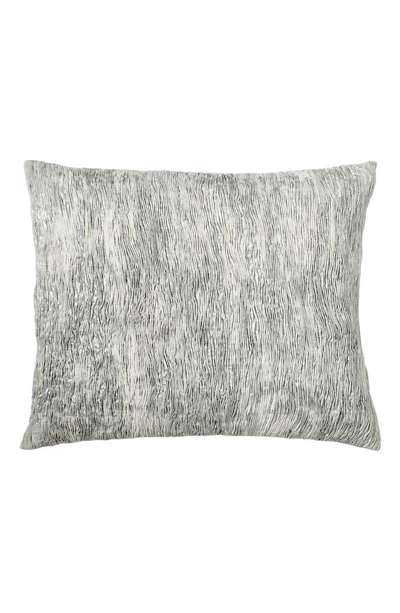 DONNA KARAN NEW YORK Luna Pleated Tie Dye Accent Pillow, Main, color, PLATINUM