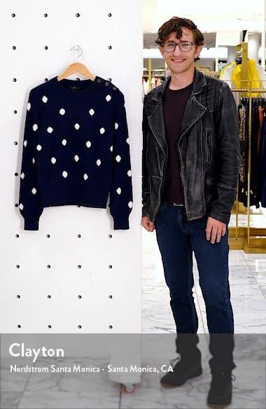 Button Detail Supersoft Dot Crewneck Sweater, sales video thumbnail