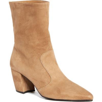 Prada Crescent Heel Bootie, Brown