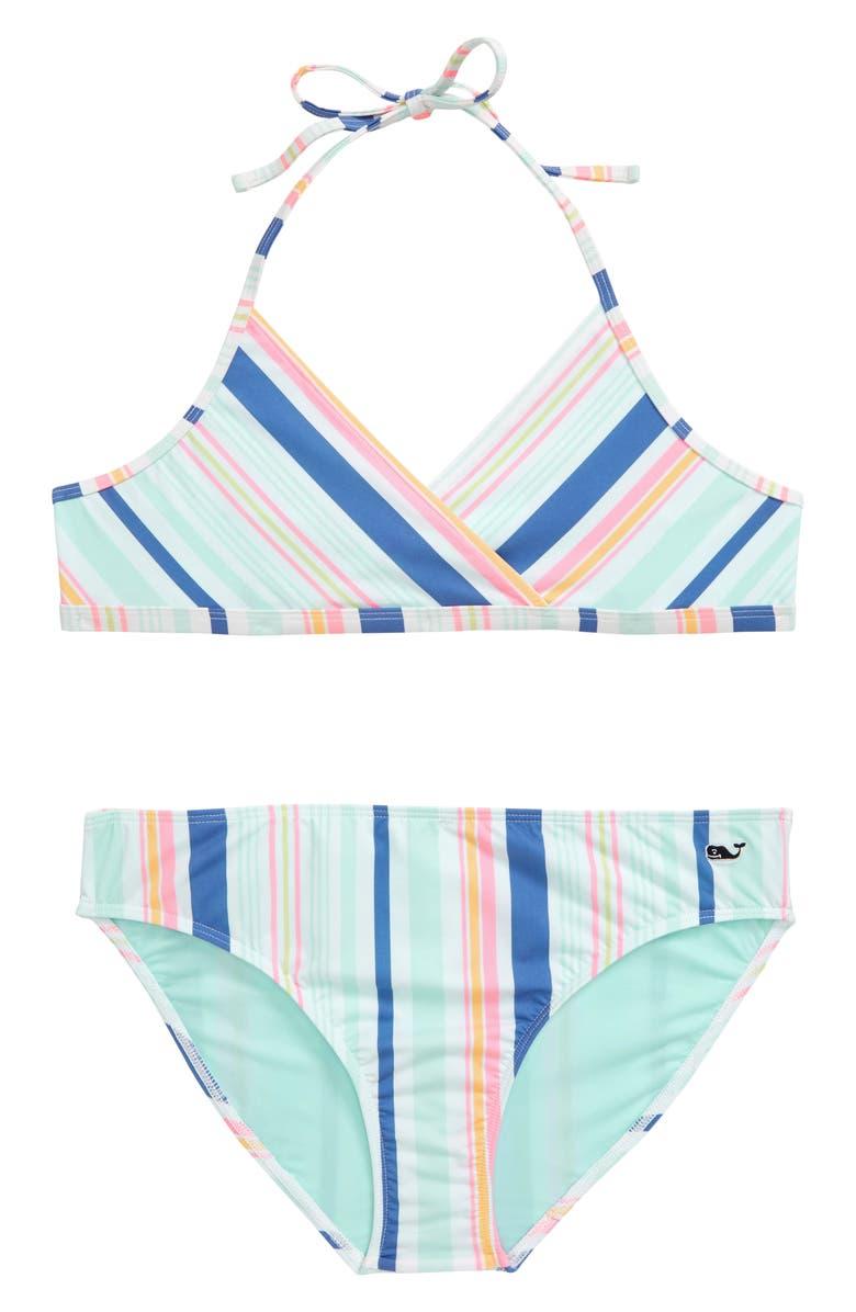 VINEYARD VINES Sea Spray Stripe Two-Piece Swimsuit, Main, color, 651