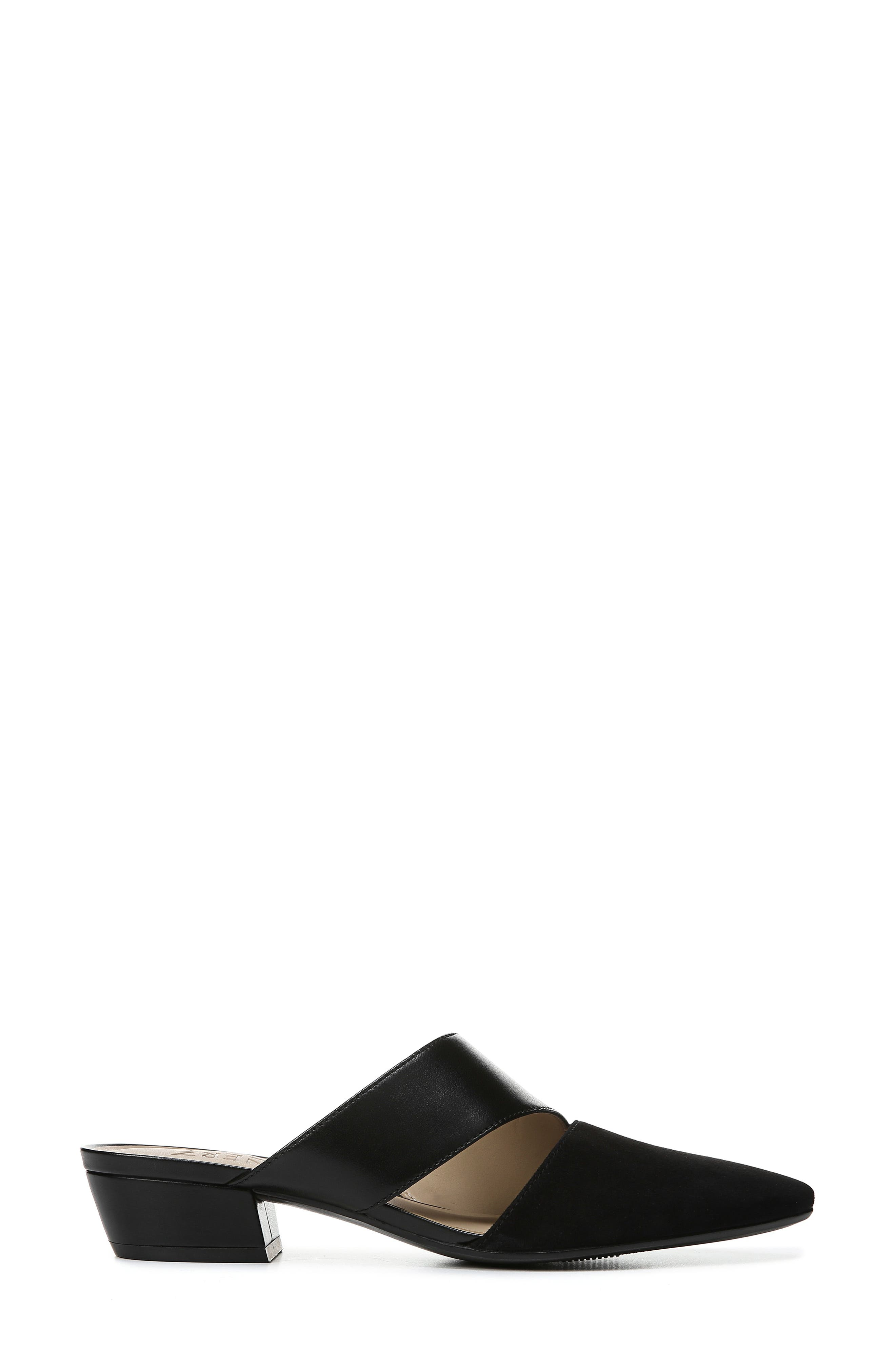 ,                             Bev Pointy Toe Mule,                             Alternate thumbnail 3, color,                             BLACK SUEDE/ LEATHER