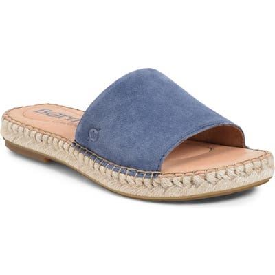 B?rn San Benito Espadrille Slide Sandal, Blue
