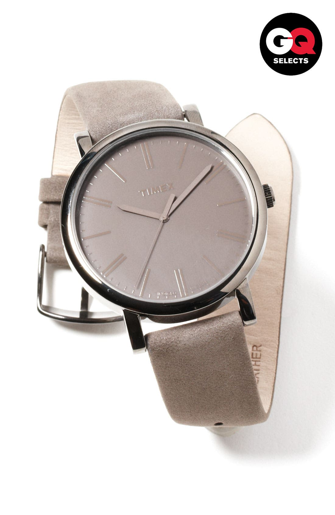 ,                             'Easy Reader' Leather Strap Watch, 42mm,                             Alternate thumbnail 6, color,                             020
