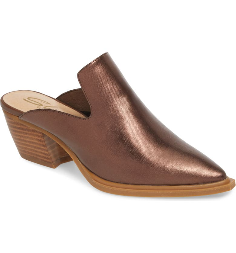 SBICCA Louisa Loafer Mule, Main, color, BRONZE