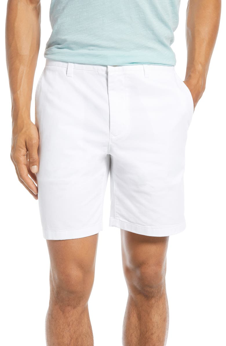 BONOBOS Stretch Washed Chino 7-Inch Shorts, Main, color, BRIGHT WHITE