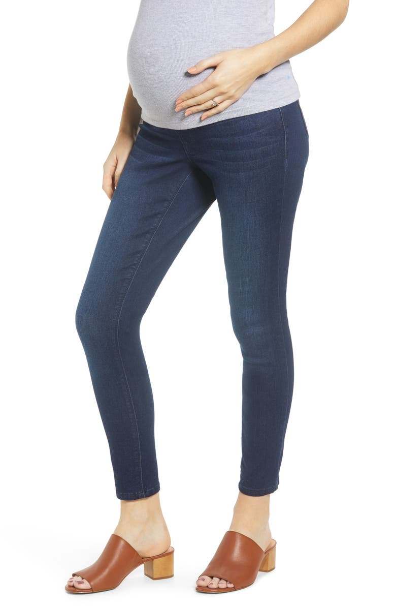 1822 DENIM Sculpt Ankle Skinny Maternity Jeans, Main, color, MARCO
