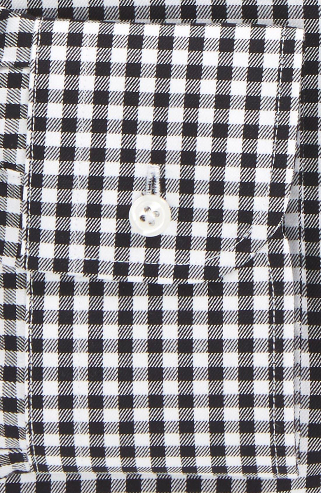 ,                             Traditional Fit Non-Iron Gingham Dress Shirt,                             Alternate thumbnail 4, color,                             BLACK ROCK
