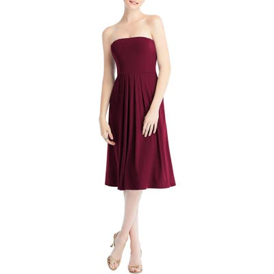 Dessy Collection Multi-Way Loop Fit & Flare Dress, Burgundy