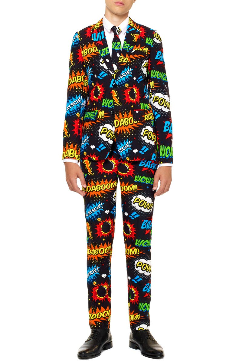 OPPOSUITS Badaboom Two-Piece Suit with Tie, Main, color, MISCELLANEOUS