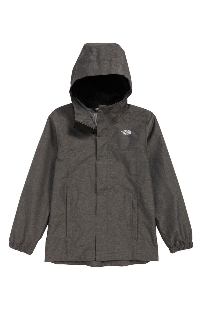 THE NORTH FACE Resolve Waterproof Hooded Jacket, Main, color, TNF DARK GREY HEATHER