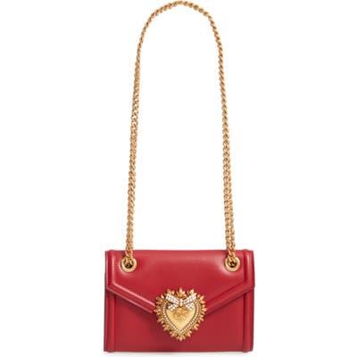 Dolce & gabbana Micro Devotion Leather Crossbody Bag - Red