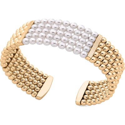 Majorica Atlas Faux Pearl Beaded Bangle