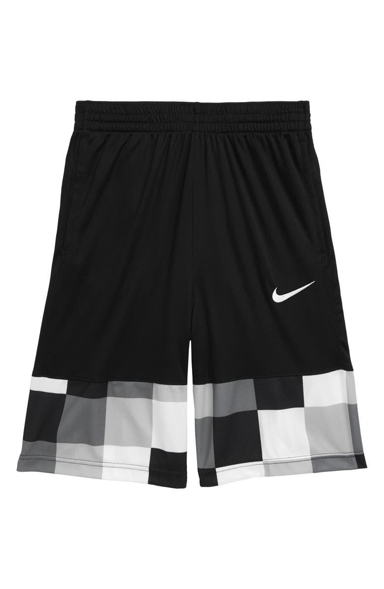 NIKE Avalanche Dri-FIT Athletic Shorts, Main, color, BLACK/ WHITE