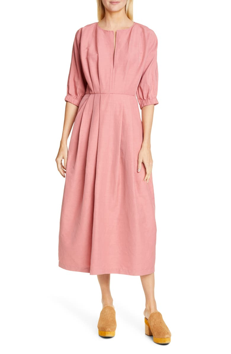 RACHEL COMEY Virtuo Midi Dress, Main, color, GUAVA