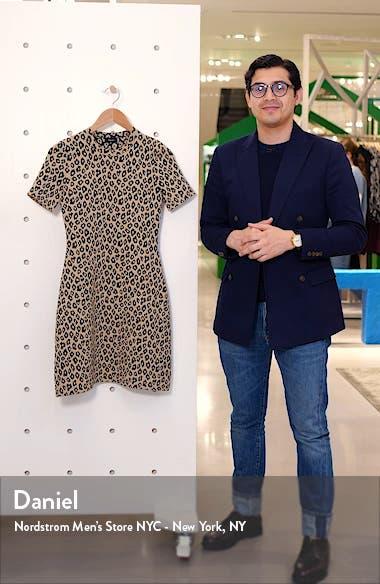 Leopard Floral Jacquard Minidress, sales video thumbnail