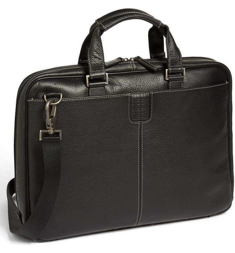 BOCONI Tyler Zipster Briefcase, Main, color, BLACK
