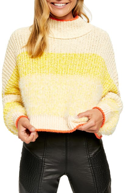 Free People Sweaters SUNBRITE MOCK NECK CROP SWEATER