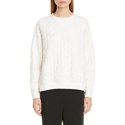 Stella Mccartney Quilted Monogram Sweatshirt, 6 IT - Ivory